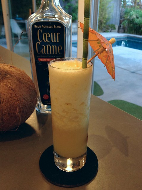 Piña Colada with La Favorite white rhum agricole, fresh pineapple and coconut water