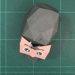 วิธีทำของเล่นโมเดลกระดาษซุปเปอร์แมน (Chibi Superman  Papercraft Model) 018