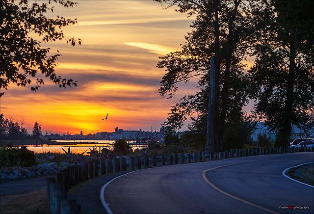 Sundown Over River Road