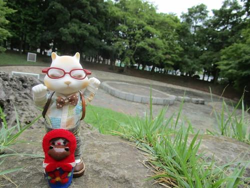 清澄公園散策イエーイ!
