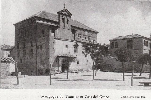Sinagoga del Tránsito a comienzos del siglo XX. Fotografía de la colección Lévy-Neurdein publicada en el libro Les Villes d´Art Célebres: Tolède (1925) de Élie Lambert