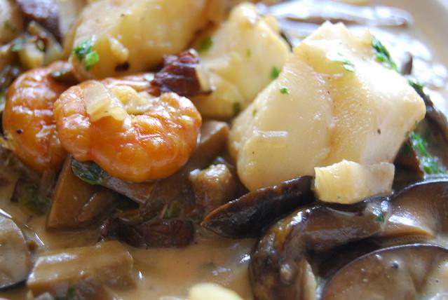 paddenstoelen met vis