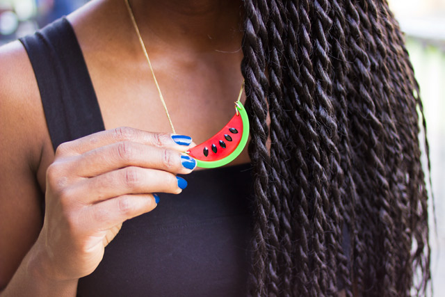 Tatty Devine Watermelon necklace