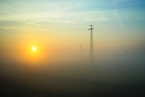 morning misty train sunrise countryside spring hungary sony budapest bluesky mysterious vignette trainride sonya7