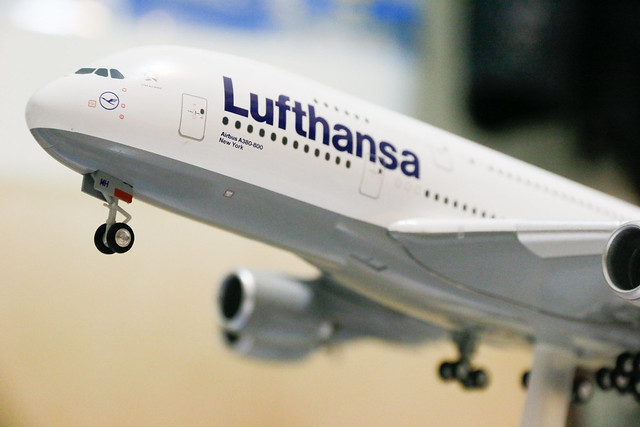 Lufthansa D-AIMH New York A380 模型 1:200