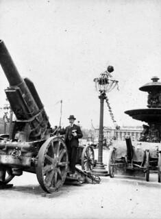 Tysk kanon på Champs-Élysées (1919)