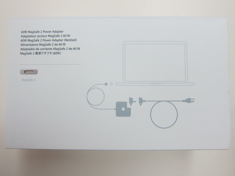 Apple 60W MagSafe 2 Power Adapter - Box Back