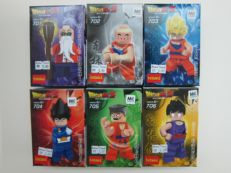 Dragon Ball Z LEGO Compatible Minifigures - Box Front