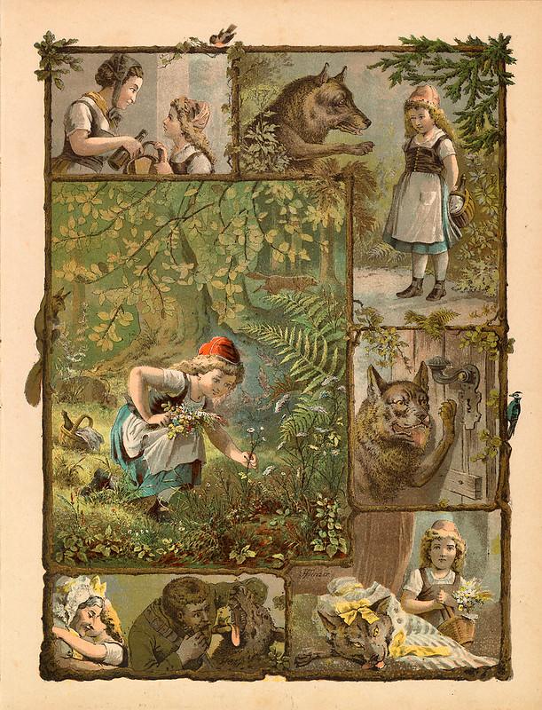 010-Caperucita roja-Aardige sprookjes- Nationale bibliotheek van Neederland