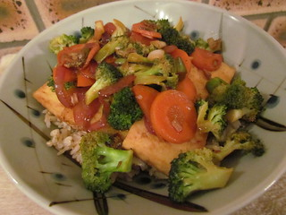 Stir-Fried Tofu and Vegetable Teriyaki