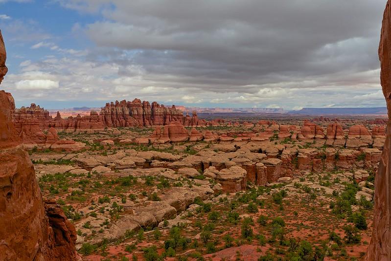 View trough the cliffs - Canyonlands National Park