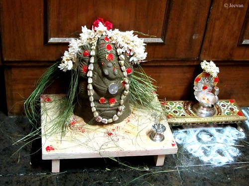 Ganesha Clay Idol @ Home