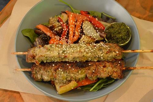 Salad + meat