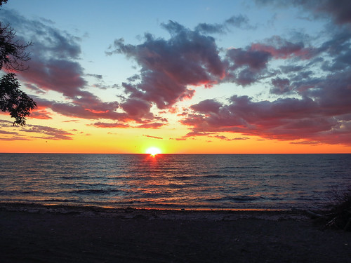 sunset newyork sunrise lakeerie unitedstates dunkirk