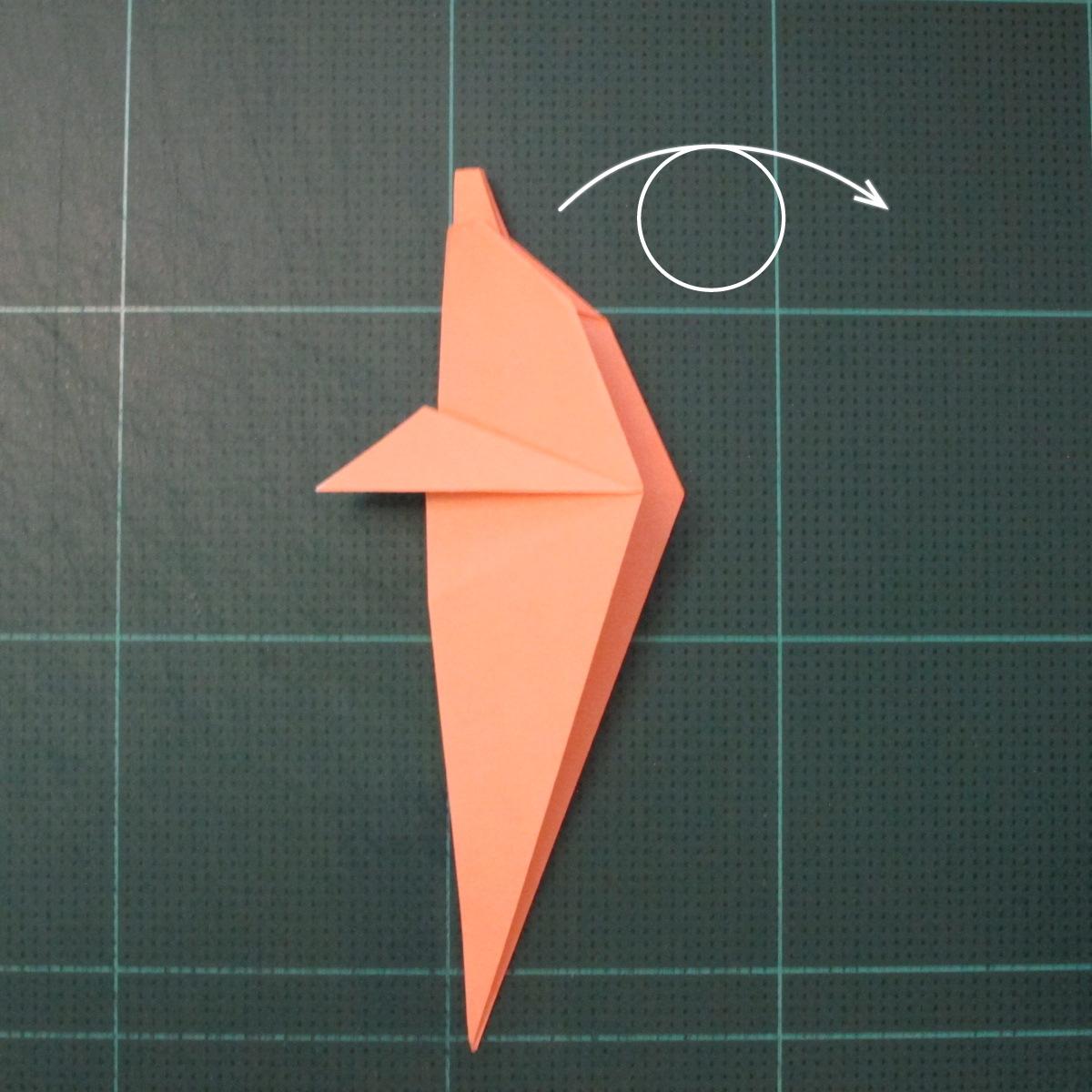 วิธีพับกระดาษเป็นรูปปลาโลมาแบบง่าย (Easy Origami Dolphin) 011
