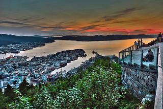 Puesta de sol sobre Bergen