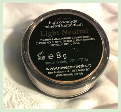 neve cosmetics fondotinta high coverage