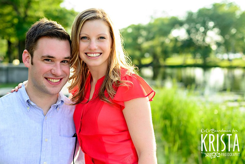 Summer Engagement Portrait Session along Esplanade in Boston