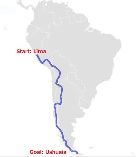 地図-南米ルート