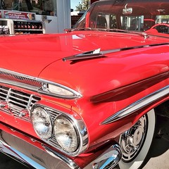 This morning at a gas station. Couldn't resist : ) Perfect 1959 #Chevy #Chevrolet