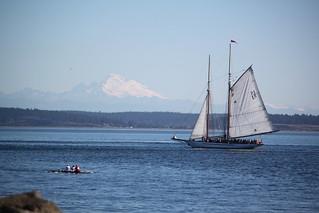 IMG_3366 - Port Townsend WA - 2014 Wooden Boat Festival - Schooner ADVENTURESS and Mount Baker