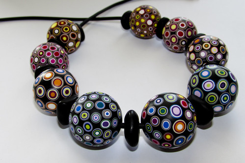 Necklace of hollow beads
