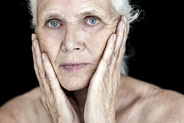 Facial landscapes 1, Mother of the photographer