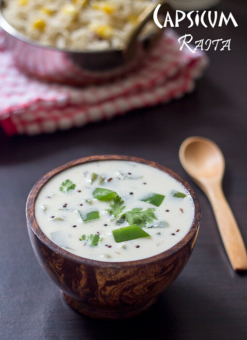 bell pepper raita