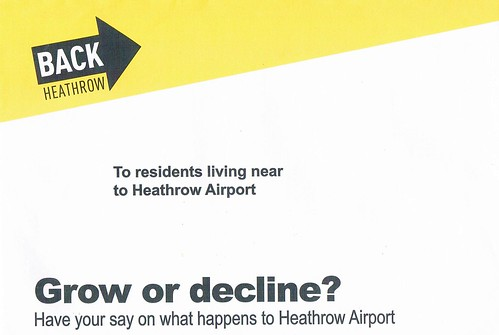 Heathrow Airport:  Mailing to local residents.