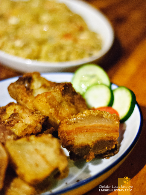Bagnet at Café Uno in Vigan City