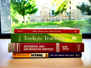 My work/education self-portrait, told in book titles.