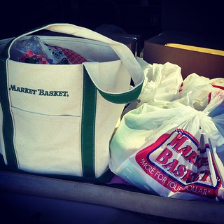 So happy to have #MarketBasket back! Went in for a few things, left with s trunk full of amazing deals! #newengland #groceries