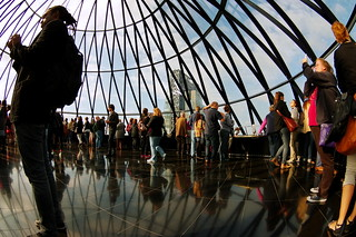 Curve with the curves: Bending for that Perfect Angle: That Gherkin Moment - London Open House 2014 K__39020