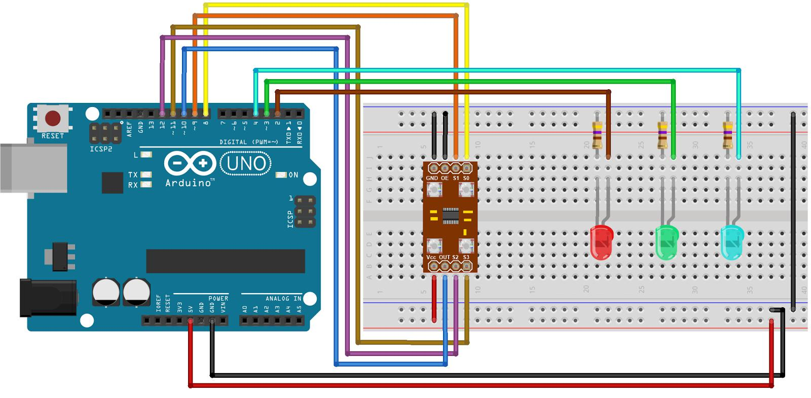 Color Sensor Recognition Module for Arduino GY-31 /