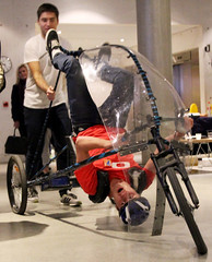 bicycle motocross(0.0), flatland bmx(0.0), baby carriage(0.0), cycle sport(0.0), indoor cycling(0.0), bicycle(0.0), machine(1.0), vehicle(1.0),