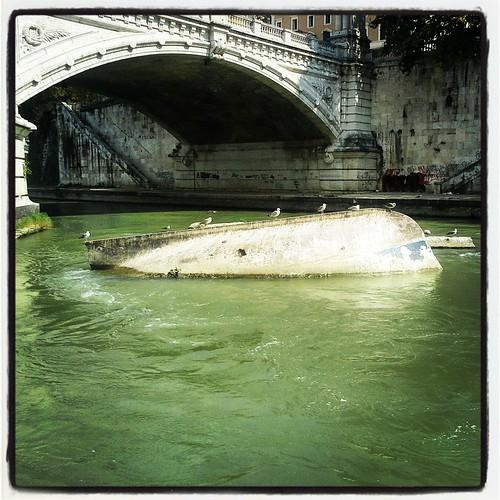 Roma: in attesa lungo il tevere
