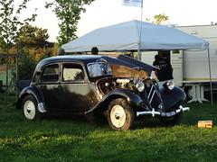 80 Jahre Citroen Traction Avant 2014 La Ferte-Vidame 708 Camping Huttopia Senonches
