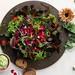 Sorrel Caesar Salad with  Edible Flowers
