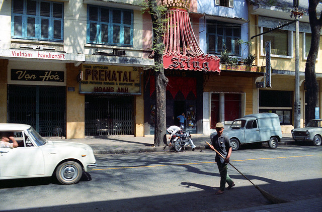 SAIGON 1967 - Photo by ken - Bars on Tu Do Street