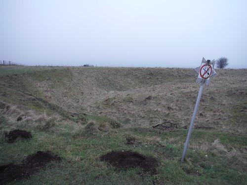 'No Digging'-sign, Cotley Hill