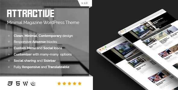 Attractive WordPress Theme free download