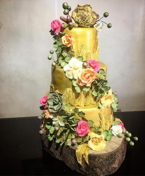 Gold Cake by Liezel Salud of Chocolate Cravings