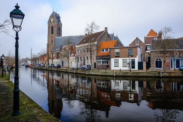 Cityscape w/ reflections @ Oudewater