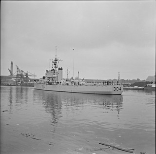 Canadian destroyer, 304, Albert Quay, Cork City, Co. Cork