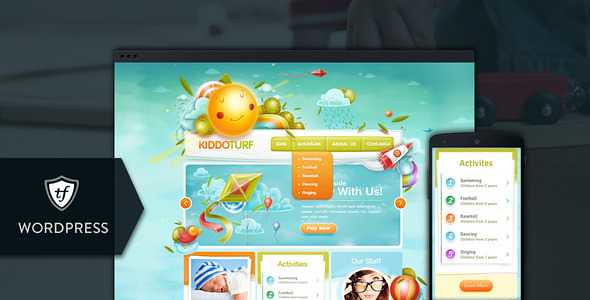 KiddoTurf WordPress Theme free download