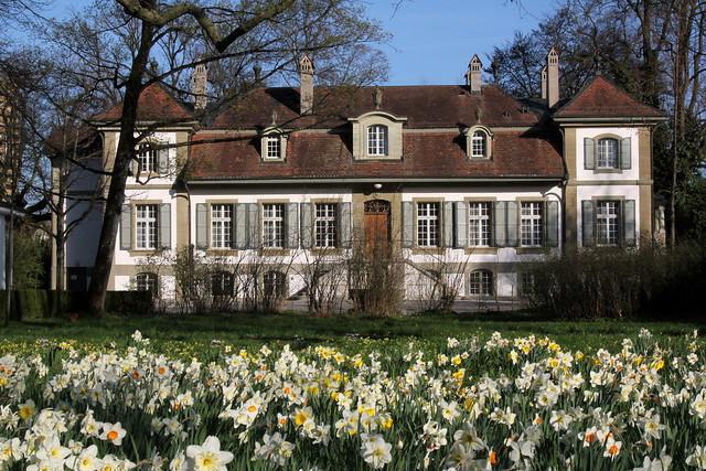 Neues Schloss Bümpliz ( Baujahr 1742 - château castello castle ) in Bern Bümpliz bei Bern im Kanton Bern der Schweiz