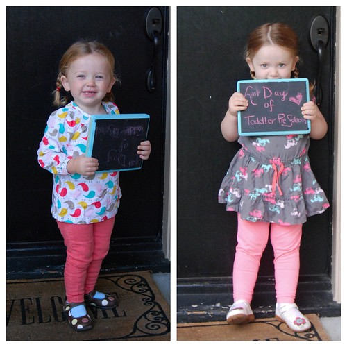 First and Last Day of Toddler Co-Op Preschool