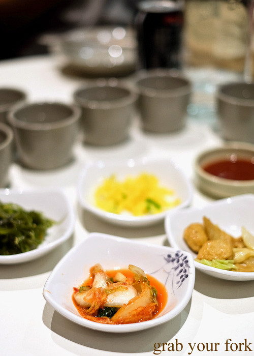 Complimentary panchan side dishes at The Sparrow's Mill, Sydney