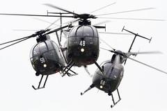 北宇都宮駐屯地でOH-6D「スカイホーネット」最後の演技を見届ける