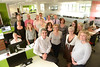 Derek Walker (centre, front) and Wales Co-operative Centre staff at their new Caerphilly Offices